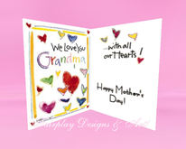 Mother's Day Card-  'We love you Grandma'