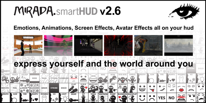 Emotions, Animations and Special FX HUD! smartHUD v3.0