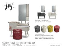 Soy. Vanity table & Stool Set [addme]