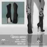 lassitude & ennui Wicked booties - black