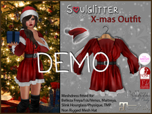 DEMO *Soulglitter* X-mas Outfit - Maitreya/Belleza/Slink/TMP