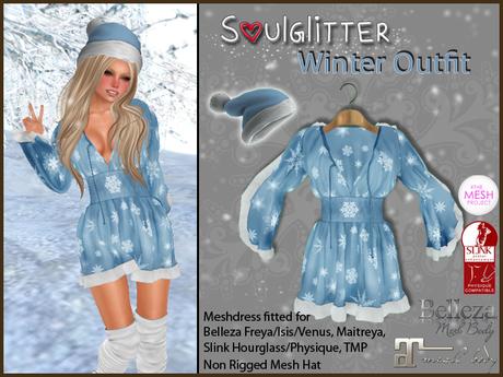 *Soulglitter* Winter Outfit - Maitreya/Belleza/Slink/TMP