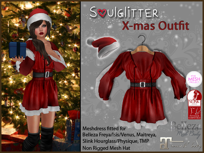 *Soulglitter* X-mas Outfit - Maitreya/Belleza/Slink/TMP