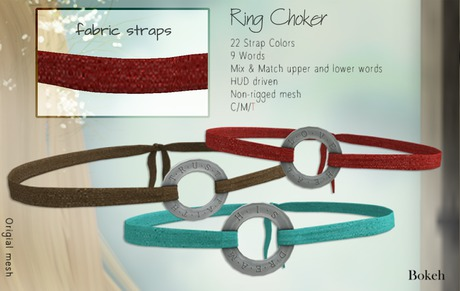 """Ring Choker """"Fabric"""" - Bokeh"""