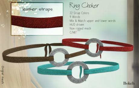 "Ring Choker ""Leather"" - Bokeh"