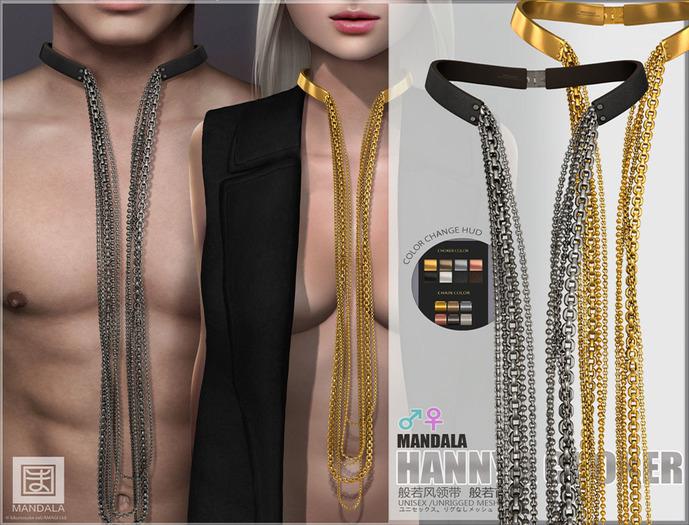 UNISEX [MANDALA]HANNYA Chain Choker -wear ME to unpack!