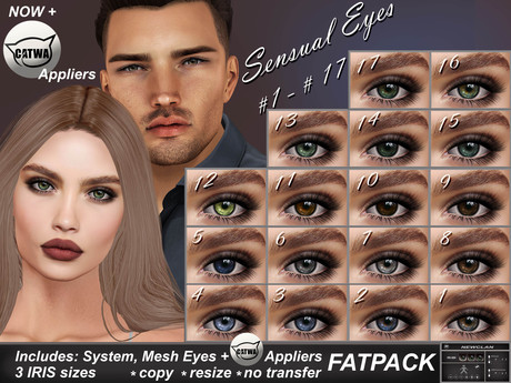 NEWCLAN_Sensual Eyes_FATPACK (17 colors)
