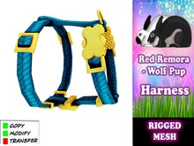 Red Remora - Wolf Pup Harness BLue
