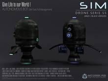 SiM DRONE S5 (Black/Army) (Security/Greeter/Visitor Tracking System) [NeurolaB Inc.] Cyber Cyberpunk Sci-fi
