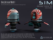 SiM DRONE S5 (Japan Ed.) (Security/Greeter/Visitor Tracking System) [Neurolab Inc] Cyber Cyberpunk Sci-fi