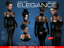GRAVES Elegance - Black + inclusive Omega, TMP appliers