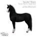 "[Teegle] ""Apollo"" Black Skin for Teegle Horse"