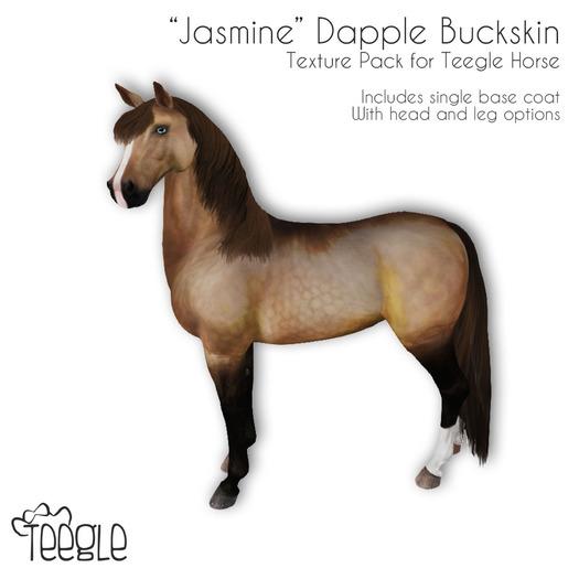 "[Teegle] ""Jasmine"" Dapple Buckskin Skin for Teegle Horse"