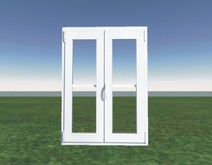 Window with transparent glass (White 2) id39window