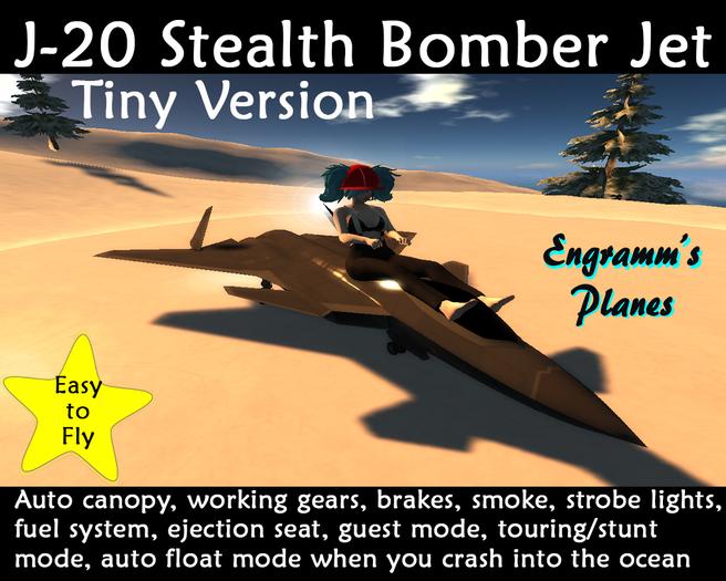 J-20 Stealth Bomber Jet (tiny) PROMO