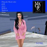 Fitmesh Ladies  8 sizes Short Robe Pink (bag)
