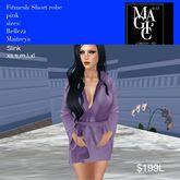 Fitmesh ladies short robe Lilac