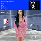 Fitmesh Ladies Short Robe Pink Stars(bag)