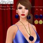 Christmas Tree Ball Earrings&Necklace 3 colors - Fashion Dream