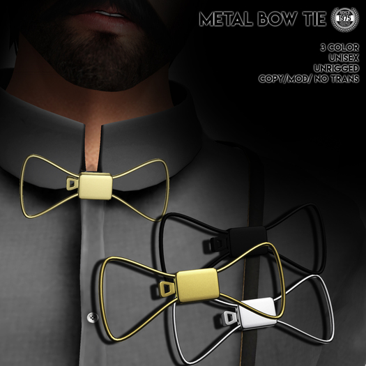 [Since 1975] - Metal Bow Tie