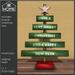 KK HOME - WOODEN BOARDS CHRISTMAS TREE, WOODEN CHRISTMAS TREE, CHRISTMAS TREE MADE OF PLANKS (BOXED)