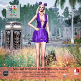 Prism Kat Perforated Leather Dress by Journey -Special Purple
