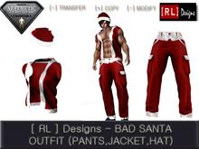 [ RL ] Designs Short Sleeve Hoodie Outfit - Santa - Fitted Mesh