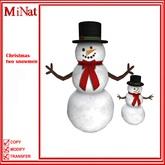 MiNat Christmas two snowmen