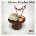 [V/W] Cheese Display Table - 1 LI multiple cheese choice on wooden round table