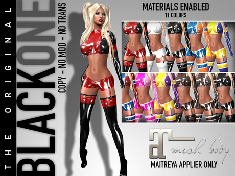 Second Life Marketplace B1 Latex Sporty Outfit For Maitreya