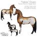 """[Teegle] """"Taboo"""" Overo Skin for Teegle Horse"""