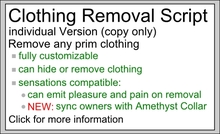 Clothing Removal/Rip/Cloak/Strip Script - individual Version