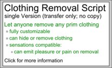 Clothing Removal/Rip/Cloak/Strip Script - single Version
