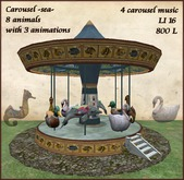 Carousel with 8 water animals and 4 carousel music