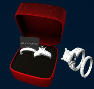 Second Life Marketplace Diamand Wedding Ring Women Men White