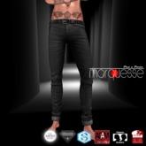 [Marquesse] Casual Slim Jeans Black