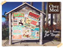 Sign & Posters for Xmas ♥ CHEZ MOI