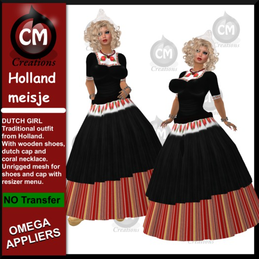CM Creations, Holland Meisje_Dutch Girl - traditional dutch dress with Omega appliers