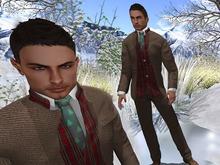 Paris METRO Couture: British Tan Holiday Men's Mesh Suit