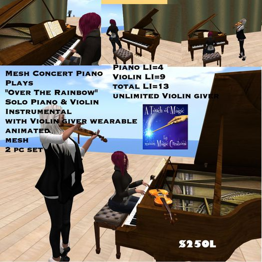 Concert Piano & Violin Giver Plays Music(crate)
