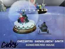 {RC}Gingerbread houseW/Santa Globe