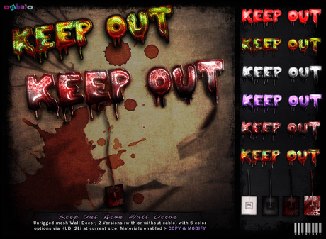 [ bubble ] Keep Out Neon Wall Decor