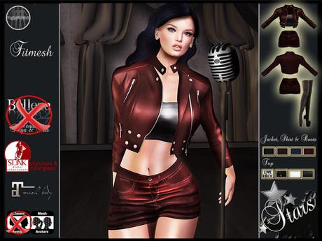 "Stars - Maitreya clothes, Slink physique, hourglass - ""Live Rock"""