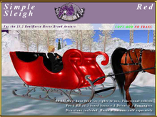 *E* Simple Sleigh [RH 15.2] BOXED  Red