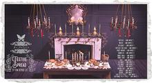 {Nostalgia} Festive Spread / 23 items / Decor / Christmas/ Fireplace / chandelier / pies / Mirror / xmas set