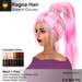 A&A Ragna Hair Variety Colors Pack. Womens triple ponytail mesh+flexi hairstyle