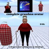complete Grandma Avatar with props(crate)