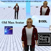 Complete male old man avatar (box)