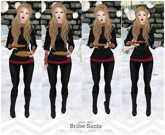 :North Moon: Bribe Santa Pose Set- Limited Time Promo