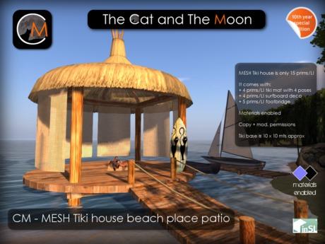CM - MESH - Tiki house beach place patio